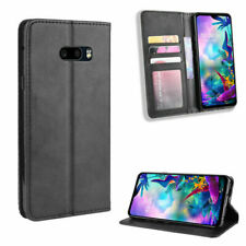 Luxury PU Leather +TPU Flip Stand Style Card Slot Black Case For LG V60 Thinq 5G
