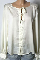 H&M Bluse Gr. 40 champagner-beige Satin Langarm Bluse