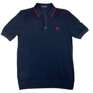 Fred Perry K9560 Tipped Knitted Polo Shirt Deep Carbon, SALE