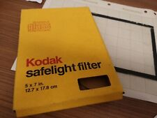 Kodak safelight clear filter and no-screen X-ray film