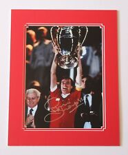 Phil Thompson In Liverpool Shirt HAND SIGNED Autograph Photo Mount Display + COA