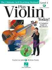 PLAY VIOLIN TODAY BEGINNER LEVEL 1 BOOK NEW