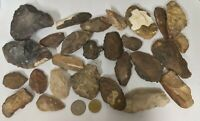 800 Grams NEOLITHIC & PALEOLITHIC age Stone Tools and Artifacts (#U40)