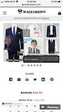 Black Bianco Boys Navy Suit