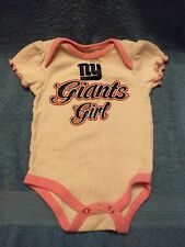 Baby Girl Soft one piece Undershirt New York Giants NY Football  NFL