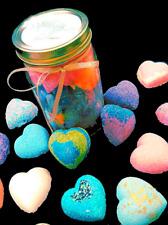 Jar O Bath Bombs - Heart shaped bath bombs 2 oz each assorted scents