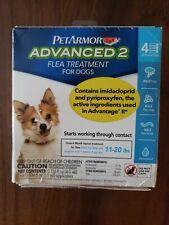 PetArmor Advanced 2 Flea Treatment for Dogs 11-20 lbs 4 Applications 4 Months