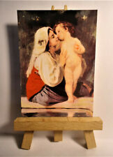 The Kiss ACEO Original PAINTING by Ray Dicken a William Bouguereau