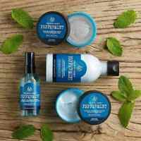 The Body shop | Peppermint Range | Foot | Lotion, Spray, moisturiser and Scrub