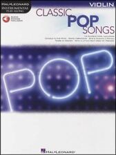 Classic Pop Songs Instrumental Play-Along Violin Sheet Music Book with Audio