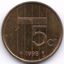 Netherlands : 5 Cents 1998