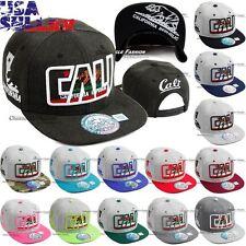 California Republic Hat Baseball Cap Embroidered Snapback Adjustable Hip Hop Men