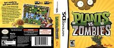 Plants vs zombies Nintendo DS Replacement Box Art Case Insert (No Game, No Box)