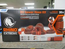 Camco Rv RhinoFlex 20' Foot Sewer Hose Kit Swivel Fitting Trailer Camper Set Kit