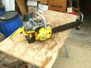 Vintage McCulloch Pro Mac 10-10 Chainsaw & Bar Parts or Repair Lot #3