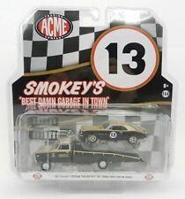 1:64 GreenLight ACME *SMOKEY YUNICK* 1967 C-30 RAMP TRUCK & 1967 Camaro #13 NIP!
