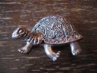 traumhafte riesige Schildkröten Brosche Schildkröte 925er Silber Markasit Glück