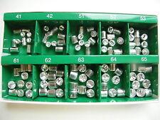 100PCS:DENTAL ALUMINUM TEMPORARY CROWN (Premolar 5sizes + Molar 5sizes) *10EA