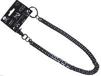 """NEW Black Link Biker Trucker Punk Keychain Jean Wallet Chain 20 """" Long"""