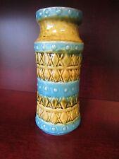Carstens Tonnieshof Mark W Germany MidCentury Modern Vase Turquoise Green Brown