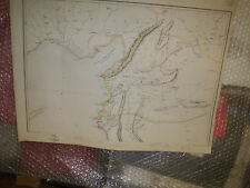 Syria Northern sheet map Weekly Dispatch Atlas 1863 historic30x44cm Framed20more