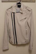 IRO Men's Lamb Leather Evan Jacket Size Extra Small XS White