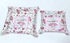 SANRIO MY MELODY KAWAII Square Clear Resin Tray Special Set F/S AIRMAIL JAPAN