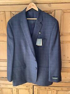 Men New Ralph Lauren Blazer In A Small Black And Blue Check Size 52 Regular