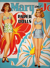 Vintage Uncut 1950 Mary And Jo Paper Dolls~#1 Reproduction~Extra Clothing Page!