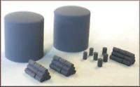 Knightwing PN17 N Gauge Fuel/Oil Gas Tanks & Drum Stack Plastic Kit
