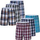 3 6 12 Mens Boxers Shorts Underwear Trunk Plaid Checker Cotton Loose Fit Classic