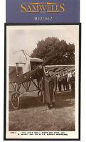 MS2662 1913 GB PIONEER AVIATOR *Salmet* PILOT SIGNED Daily Mail Aeroplane RPPC