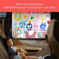 Car Side Window Cartoon Sun Shade Suction Cup Anti-UV Cover Shield For Baby Kids