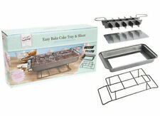 "NEW BAKE 31 cm 12"" CAKE TRAY BAKE & SLICER CUTTER LOOSE BASE & COOLING RACK"