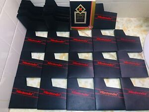 Lot of 29 Original Nintendo NES Dust Sleeves 16 Red Logo 11 All Black 2 Tengen