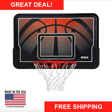 "44"" Basketball Impact Backboard Combo System Outdoor Wall Mount Hoop Rim Sports"