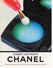 PUBLICITE ADVERTISING 035  1986  CHANEL  cosmétiques  maquillage OMBRE CONTRASTE
