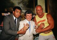 Art Print Poster / Canvas Muhammad Ali and Hulk Hogan Holding Liberace
