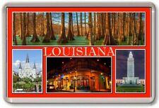 FRIDGE MAGNET - LOUISIANA - Large - USA America State TOURIST
