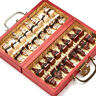 European International Chess Set - Folding Wooden Board for Antique Carved Gift
