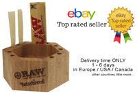 1x ORIGINAL RAW X Interbreed Chilling Wood Ashtray + GIFT 10x RAW KS Papers