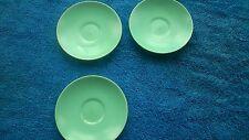 POOLE TWINTONE ICE GREEN SAUCERS x 3