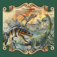 Mozambique 2018 MNH Dinosaurs Brachiosaurus Gorgosaurus 1v S/S Stamps