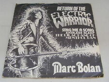 "MARC BOLAN Return Of The Electric Warrior Rarn 1981 UK P/S 7"""