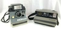 "2 Vintage Polaroid Cameras - ""The Button"" W/Flash Attachment & Spectra System!!!"