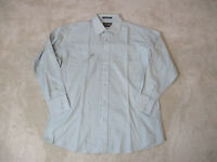 Panhandle Slim Pearl Snap Shirt Adult Large Blue Yellow Rodeo Western Cowboy Men