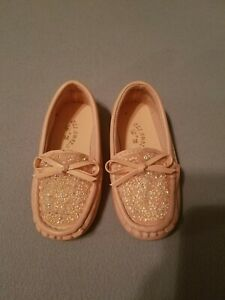 Toddler Pink Sparkle Boat Shoes