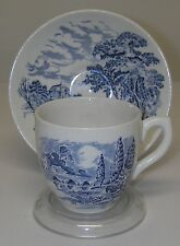 DINNERWARE Enoch Wedgwood China COUNTRYSIDE Blue Demitasse Flat Cup/Saucer