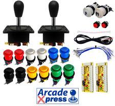 Kit Joystick Compacto Industrias Lorenzo Spanish Arcade x2 Negro 12 botones