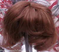 4 New the Same Synthetic Doll Wigs Size 7 - 8 Color: BROWN